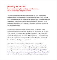 sample succession planning template 9 free documents in pdf word