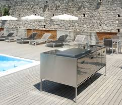 compact kitchen island compact outdoor kitchen island artusi from arclinea