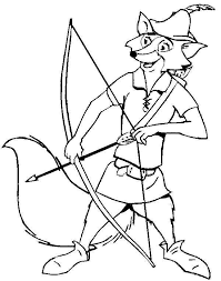 robin hood drew his bow colouring page colouring club