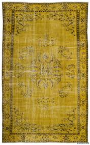 Vintage Overdyed Turkish Rugs K0017847 Yellow Over Dyed Turkish Vintage Rug Kilim Rugs