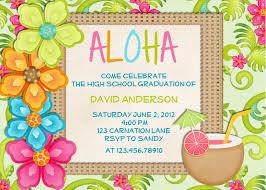 marvellous creative hawaiian birthday party invitations for