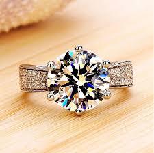wedding rings luxury images Sona diamond ring one karat diamond ring female luxury wedding jpg
