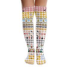 sox emoji knee high socks