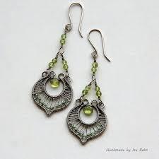Chandelier Earrings Etsy 113 Best Wire Earrings Images On Pinterest Wire Earrings