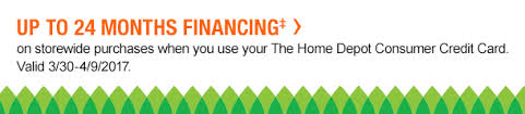 home depot credit card black friday special the home depot email example expiring tonight spring black