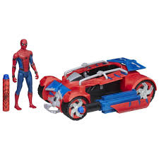 nerf battle racer marvel spider man homecoming spider man with spider racer