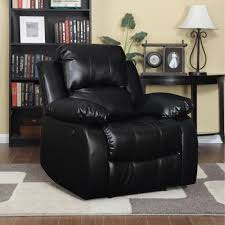 Side Table For Recliner Chair Furniture Black Leather Wall Hugger Recliner On Shag Area Rugs
