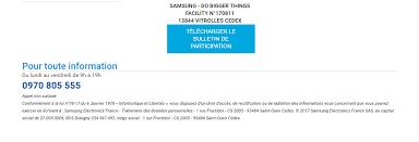 adresse siege social samsung guide de participation aux offres promotionnelles samsung page 4
