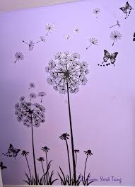 wall stickers myphotojourney co uk dandelion and butterfly wall sticker