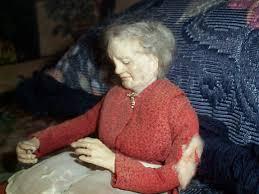 antique grandma wax shelf sitting doll item 472 for sale