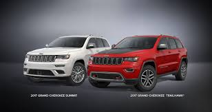 maroon jeep 2017 2017 jeep grand cherokee trailhawk and summit