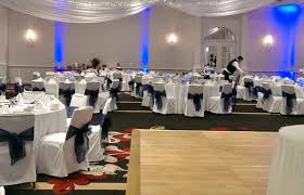 navy blue chair sashes white chair covers with royal blue organza sashes traditional bow