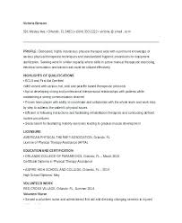 physical therapy graduate resume sample marriage and family