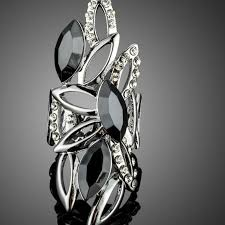 beautiful rings design images Beautiful new ring design with marquise black stellux austrian jpg