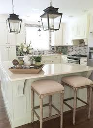 decorate kitchen island classic charleston style farmhouse kitchen with brick backsplash