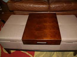 coffee table round leather coffee table ottoman modern tray
