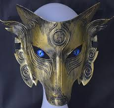 wolf masquerade mask samurai wolf mask party prom masquerade
