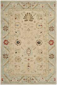 safavieh anatolia natural soft turquoise area rug u0026 reviews wayfair
