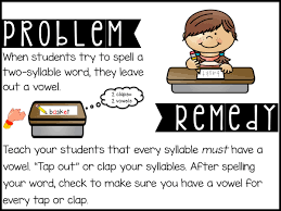 Resume Verbs For Teachers Sarah U0027s First Grade Snippets Teaching Two Syllable Words