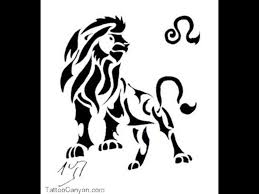tribal leo tattoo designs on white background photos pictures