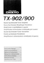 onkyo tx 902 owner u0027s manual immediate download