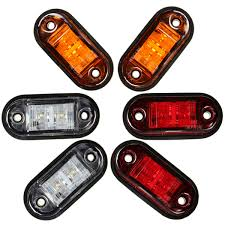 led side marker lights 12v 24v 2 led car truck trailer side marker lights l blinker e