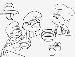 baker greedy baby papa smurf simple coloring book print pictures
