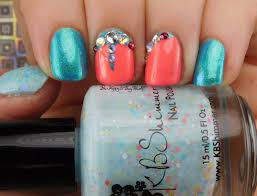 easter manicure with parrot polish china glaze kbshimmer and