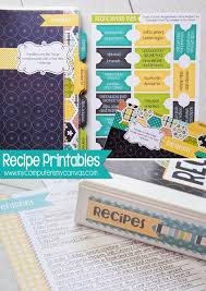 1276 best recipe cards pages covers binder planner printables most