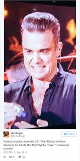 Robbie Meme - robbie williams had the best reaction to becoming the first meme of
