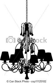 Black Chandelier Clip Art Vector Clipart Of Silhouette Of Modern Chandelier Csp11125102