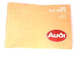 owners manual book 1985 audi 5000 s genuine ebay
