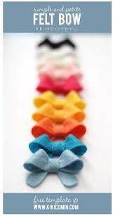 how to make these precious little no sew felt bows crafts for me