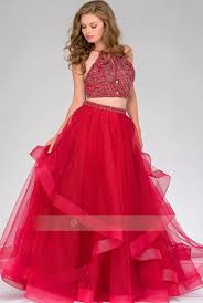 tulle for sale a line halter neck two rhinestone bodice ruffled tulle prom