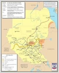 Map Of Sudan Map Of The Oil Pipeline From The North South Border To Port Sudan