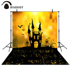 halloween full moon photography background halloween castle background promotion shop for promotional