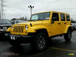 yellow jeep wrangler unlimited 2015 jeep wrangler unlimited rubicon 4x4 in baja yellow 572578