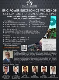 uncc resume builder epic event archive energy production infrastructure center epic power electronics workshop