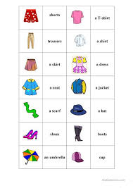 clothes memory worksheet free esl printable worksheets made