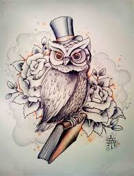 27 best book and owl tattoo images on pinterest art black and book