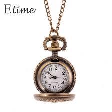 quartz necklace watch images Fanala 2017 women bronze pocket watch web spider hollow antique jpg