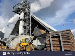 Laminate Flooring Factory A Wheel Loader Loads The Wood Chip Factory Of The Classen Group In