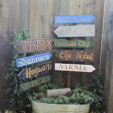 Wizard Of Oz Home Decor by Fantasy Story Signs Hogwarts Neverland Narnia Alice Wonderland