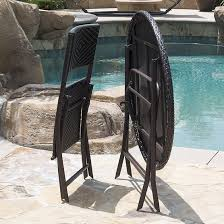 5pc folding table u0026 chair bistro set dining rattan wicker outdoor