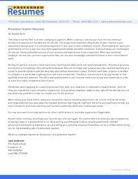 fair preschool teacher resume cover letter samples on cover letter