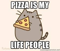 Pusheen Cat Meme - pizza is my life people pusheen cat meme generator