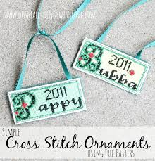simple cross stitched christmas ornaments u2013 do small things with love