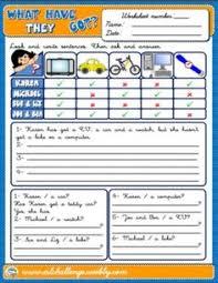 verb have got worksheet curso de inglés pinterest about