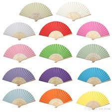 held paper fans folding held fans wedding table decorations accessories white