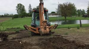 tree stump removal with case 580 super n youtube